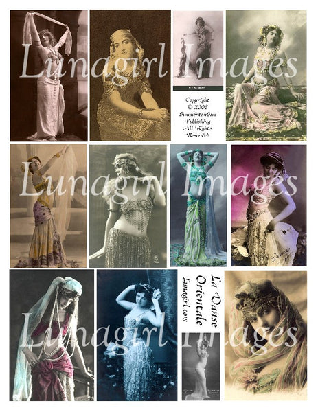 Bellydance #1: La Danse Orientale Digital Collage Sheet - Lunagirl
