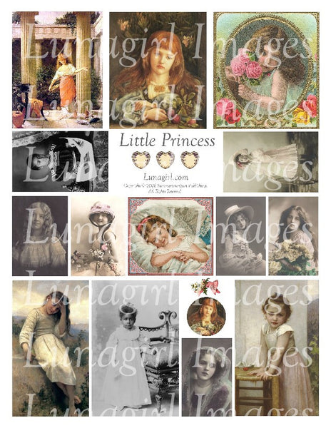 Little Princess Digital Collage Sheet - Lunagirl