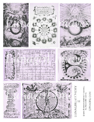 Alchemy 2 in Purple Digital Collage Sheet - Lunagirl