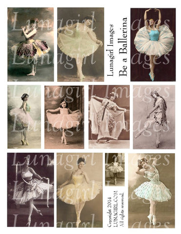 Dance 2: Be a Ballerina Digital Collage Sheet - Lunagirl