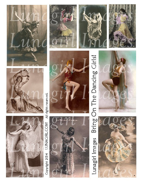 Dance 3: Bring On the Dancing Girls! Digital Collage Sheet - Lunagirl