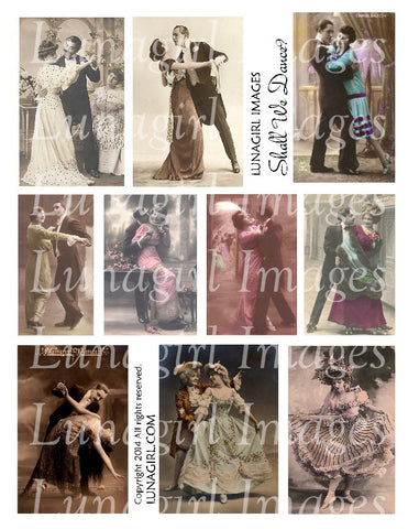 Dance 4: Shall We Dance? Digital Collage Sheet - Lunagirl