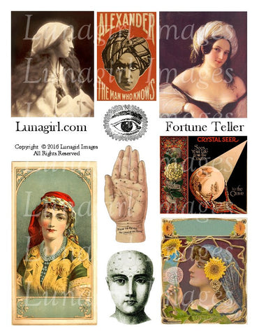 Fortune Teller Digital Collage Sheet - Lunagirl