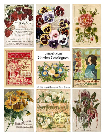 Garden Catalogues Digital Collage Sheet - Lunagirl