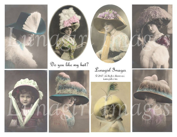 Do You Like My Hat? Digital Collage Sheet