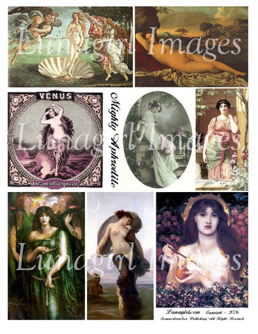 Mighty Aphrodite Digital Collage Sheet - Lunagirl