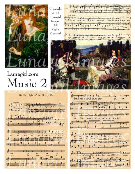 Music 2: Just Dreams Digital Collage Sheet - Lunagirl