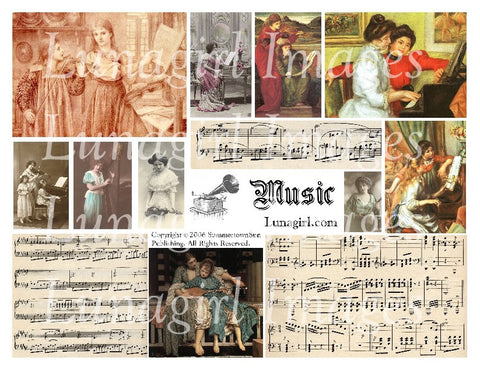 Music Digital Collage Sheet - Lunagirl