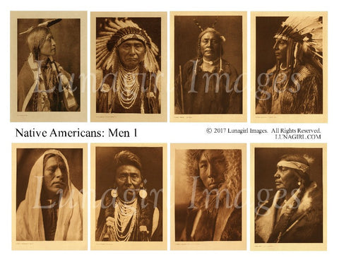 Native Americans: Men #1 Digital Collage Sheet