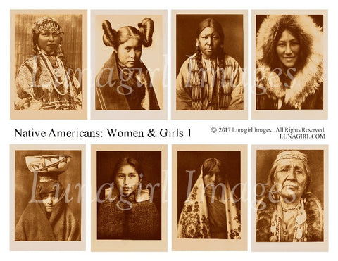 Native Americans: Women & Girls #1 Digital Collage Sheet