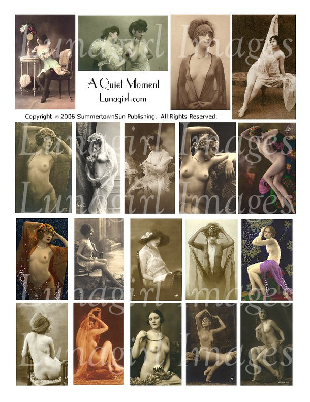 Digital Collage Sheets: Nudes & Risque