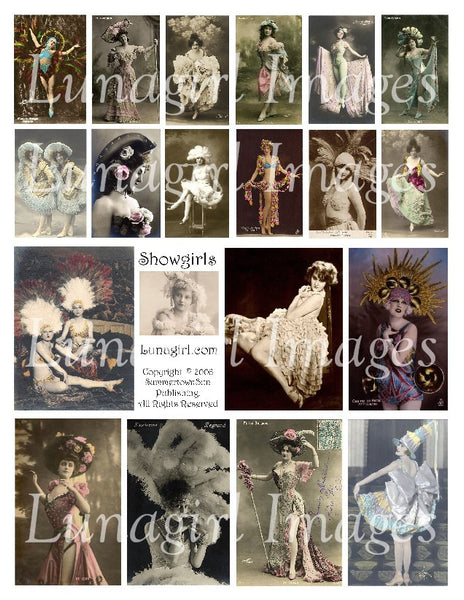 Showgirls Digital Collage Sheet - Lunagirl