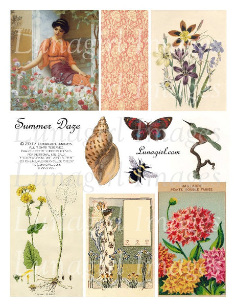 Summer Daze Digital Collage Sheet