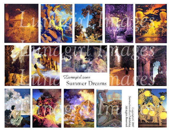 Summer Dreams Digital Collage Sheet - Lunagirl