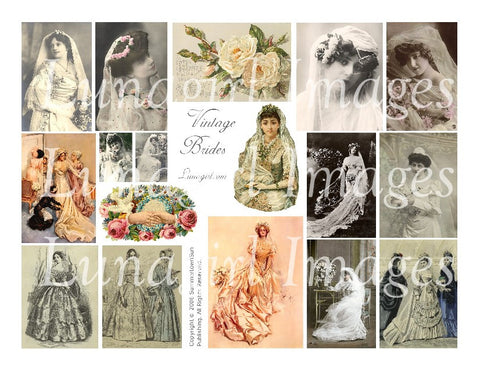 Vintage Brides Digital Collage Sheet - Lunagirl