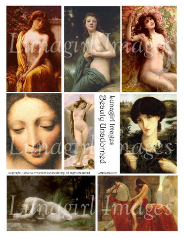 Beauty Unadorned Digital Collage Sheet - Lunagirl