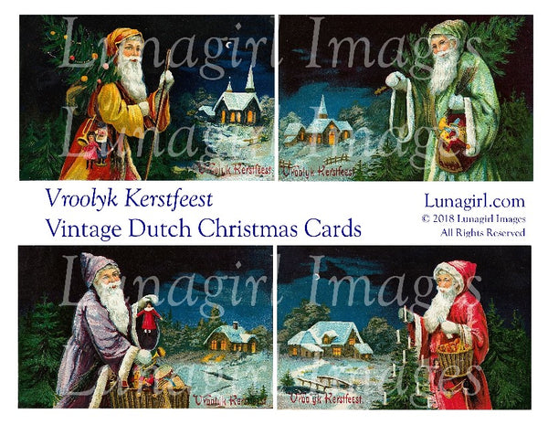 VROOLYK KERSTFEEST: Vintage Dutch Christmas Cards - Lunagirl