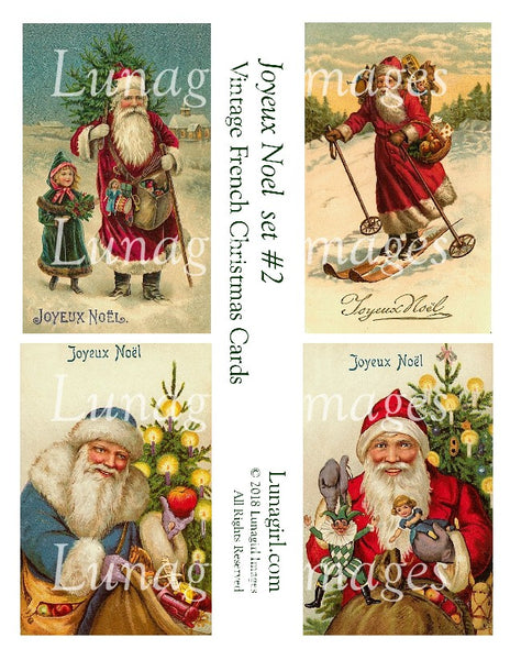 JOYEUX NOEL Set #2:: Vintage French Christmas Cards - Lunagirl