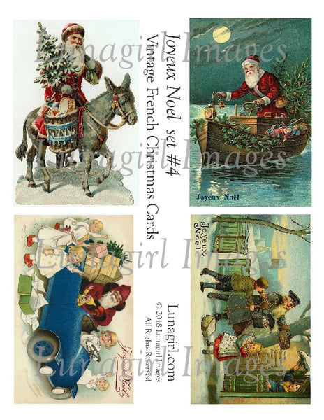 JOYEUX NOEL Set #4: Vintage French Christmas Cards - Lunagirl