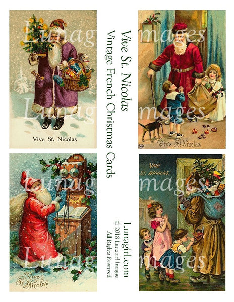 VIVE ST NICOLAS: Vintage French Christmas Cards - Lunagirl