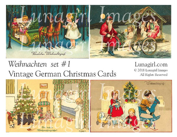 WEIHNACHTEN Set #1: Vintage German Christmas Cards - Lunagirl