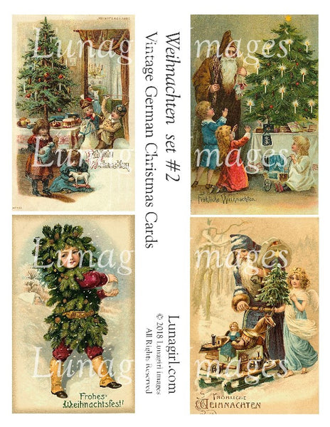 WEIHNACHTEN Set #2: Vintage German Christmas Cards - Lunagirl