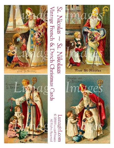 ST NICOLAS ~ ST NIKOLAAS: Vintage French & Dutch Christmas Cards - Lunagirl