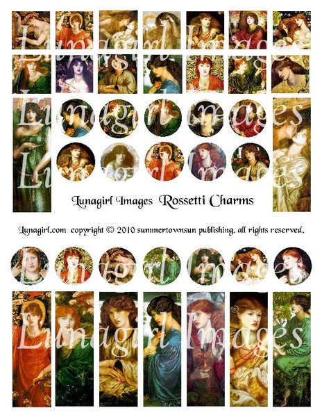 Rossetti Charms Digital Collage Sheet - Lunagirl