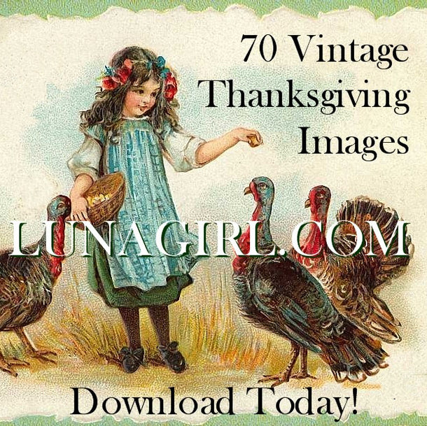 Digital Collage Sheets: Thanksgiving & Autumn