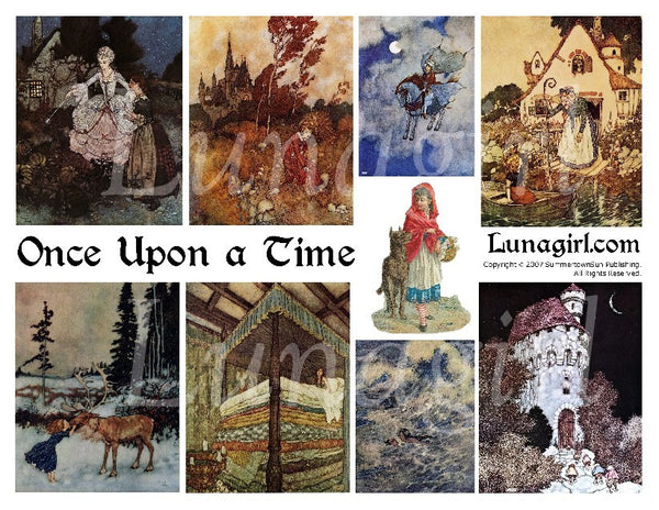 Once Upon a Time Digital Collage Sheet - Lunagirl