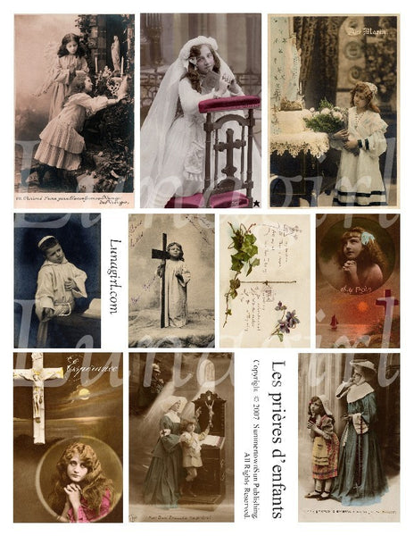Prayers of Children Digital Collage Sheet - Lunagirl