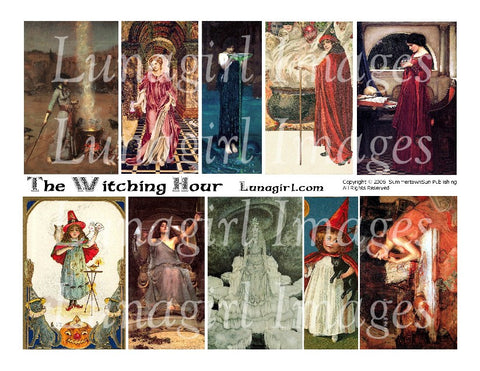 Witching Hour Digital Collage Sheet - Lunagirl