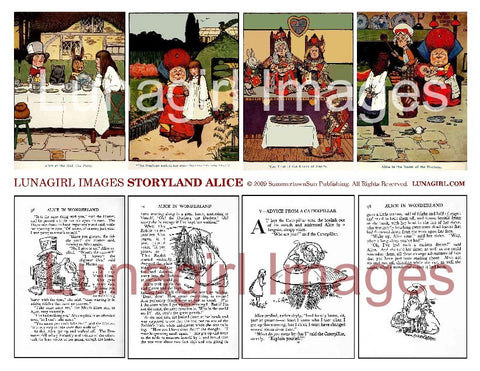 Storyland Alice Digital Collage Sheet - Lunagirl