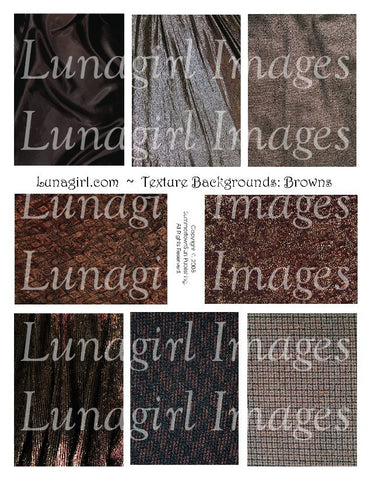 Textures: Brown Digital Collage Sheet - Lunagirl