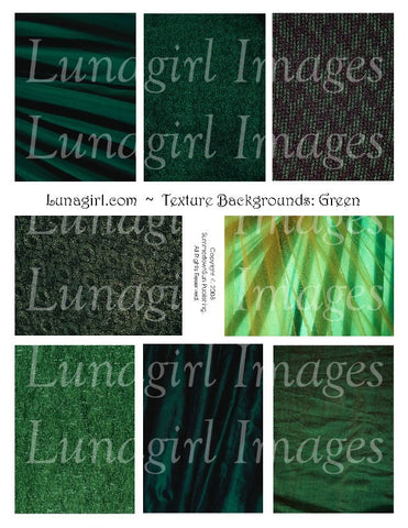 Textures: Green Digital Collage Sheet - Lunagirl