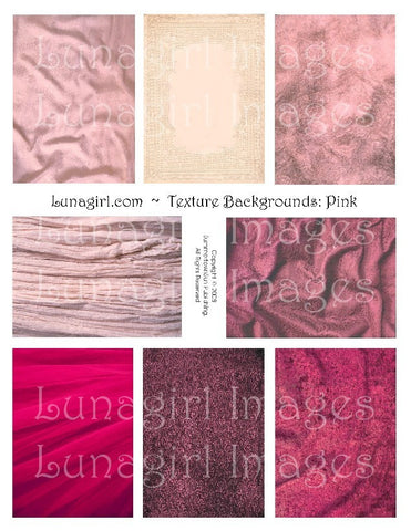 Textures: Pink Digital Collage Sheet - Lunagirl