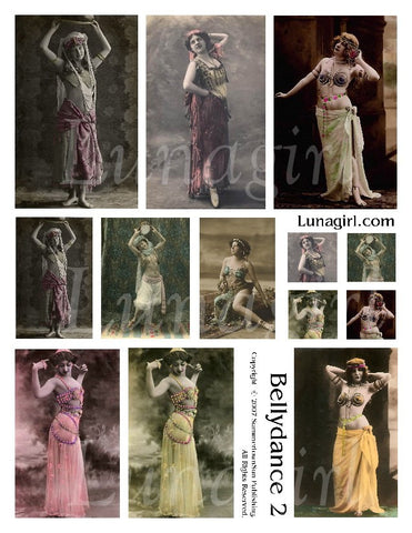 Bellydance #2 Digital Collage Sheet - Lunagirl