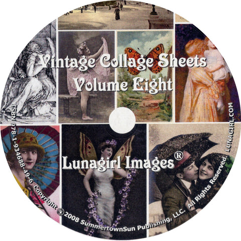 Digital Collage Sheets on CD Volume #8 - Lunagirl
