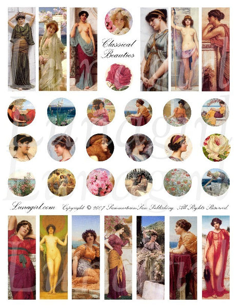 Classical Beauties Digital Collage Sheet - Lunagirl