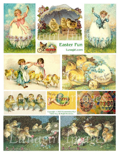 Easter Fun Digital Collage Sheet - Lunagirl