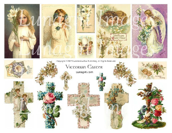 Victorian Easter Digital Collage Sheet - Lunagirl