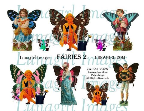 Fairies #2 Digital Collage Sheet - Lunagirl