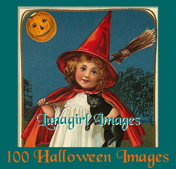 100 Vintage Halloween Images Download Pack - Lunagirl