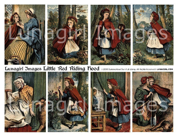 Little Red Riding Hood Digital Collage Sheet - Lunagirl