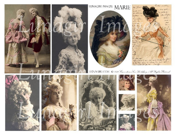 Marie Digital Collage Sheet - Lunagirl