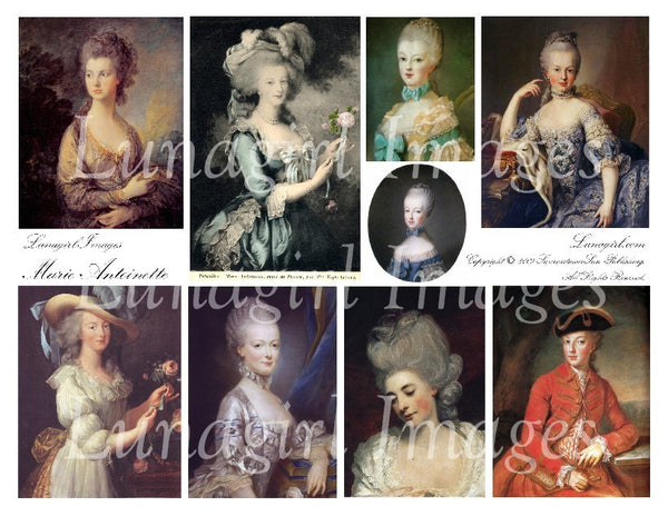 Marie Antoinette Digital Collage Sheet - Lunagirl