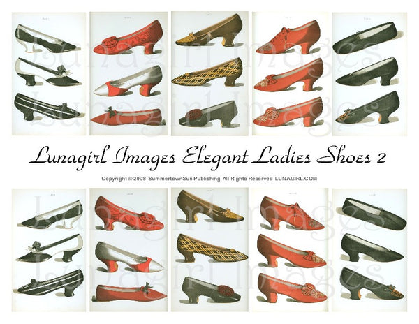 Elegant Ladies Shoes #2 Digital Collage Sheet - Lunagirl