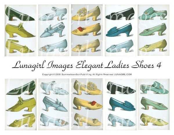 Elegant Ladies Shoes #4 Digital Collage Sheet - Lunagirl