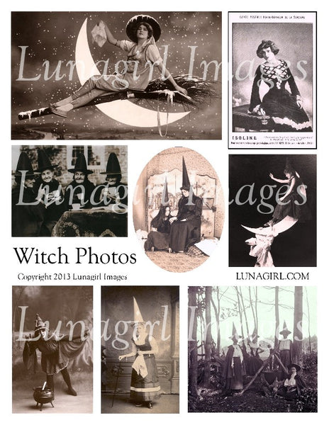 Witches Photos Digital Collage Sheet - Lunagirl