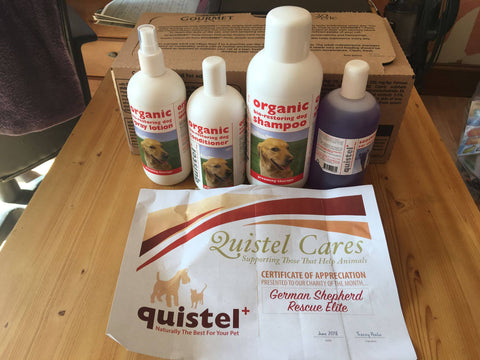 quistel products donated to animal care
